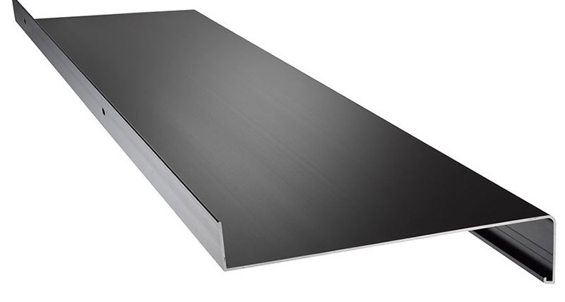 Aluminium Fensterbank grau RAL 7016. Ausladung 420 mm | Fensterbank ...