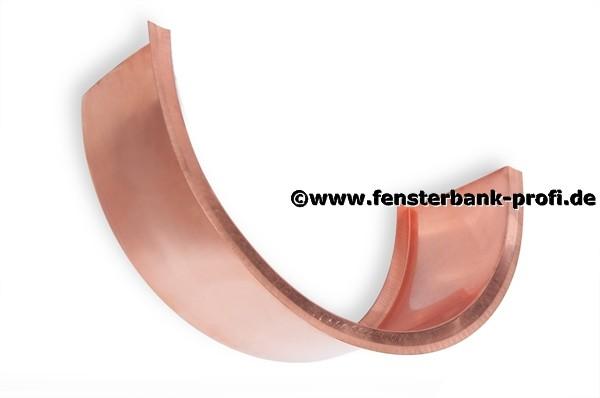Kupfer Fensterbank halbrund von 1001 bis 1100 mm