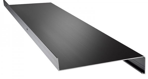 Aluminium Fensterbank grau ( Ral 7016 ) 380mm