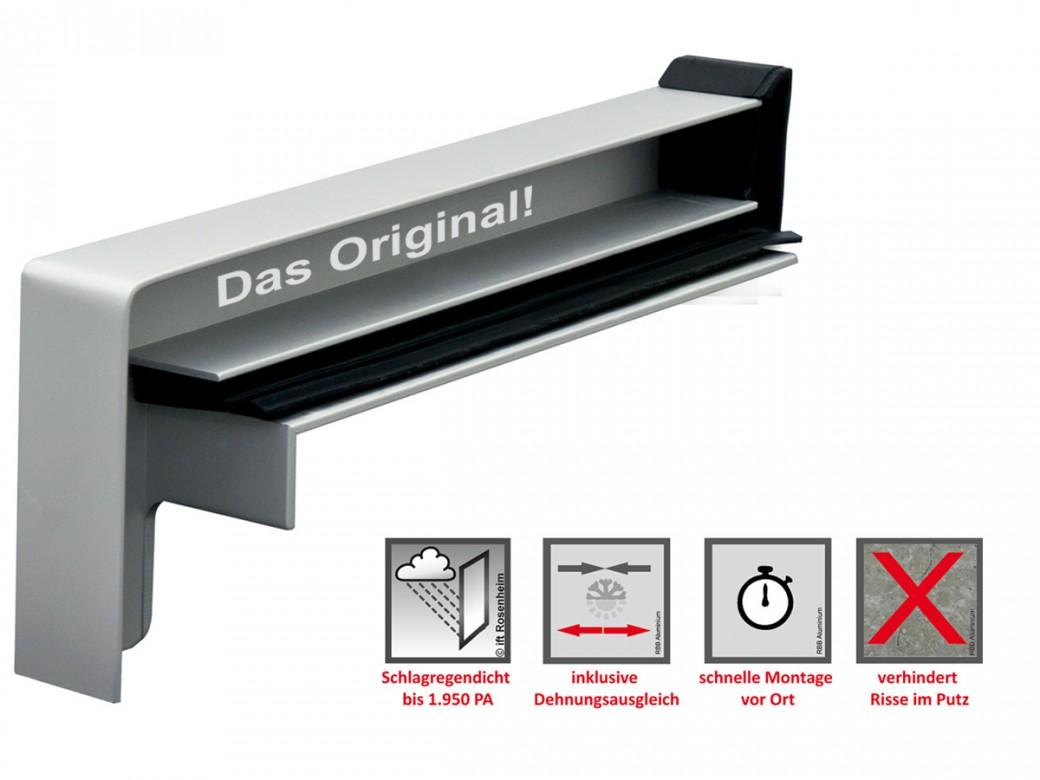 Gleitendkappenpaare Aluminium RAG2 | Fensterbankprofi