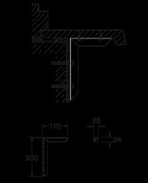 Fensterbank-Konsole 200 x 125 mm