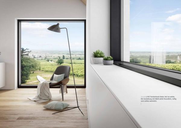 Innenfensterbank StudioLine Plus mit Schattenfuge | 200 mm Tiefe