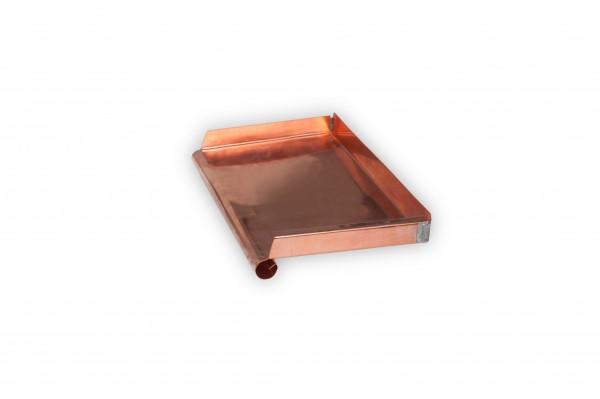 Fensterbank Kupfer Ausladung 300 mm / gerollte Tropfkante