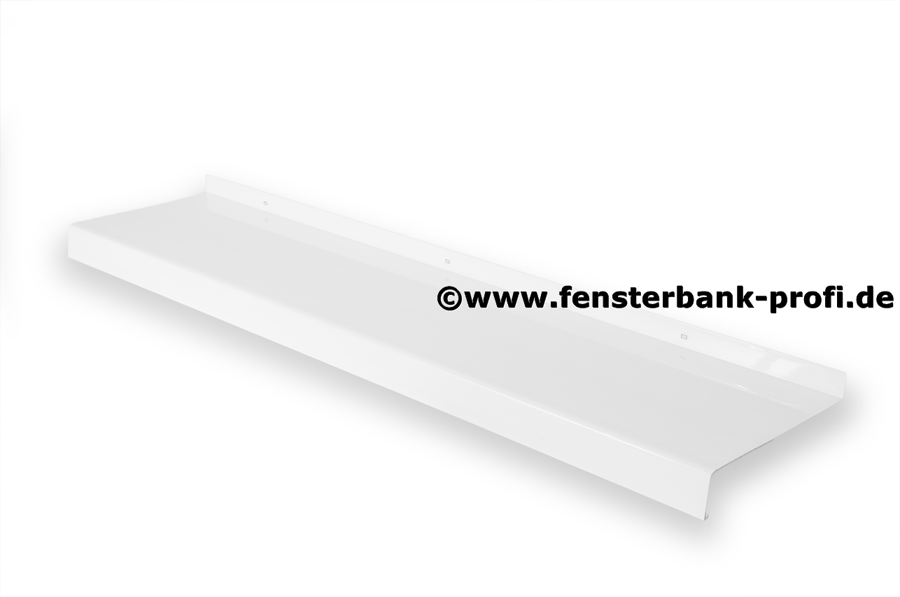 Aluminium Fensterbank weiß . Ausladung 110 mm   Fensterbank-Profi