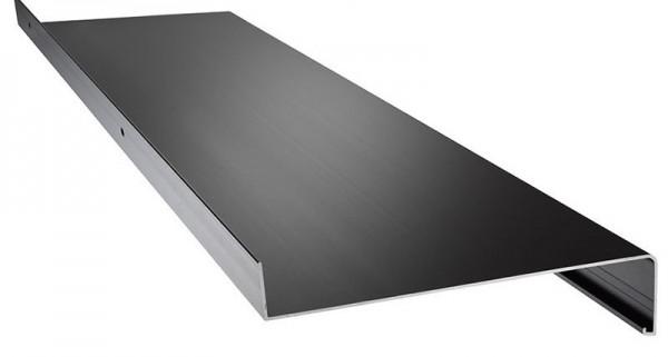 Aluminium Fensterbank grau ( RAL 7016 ) 340mm