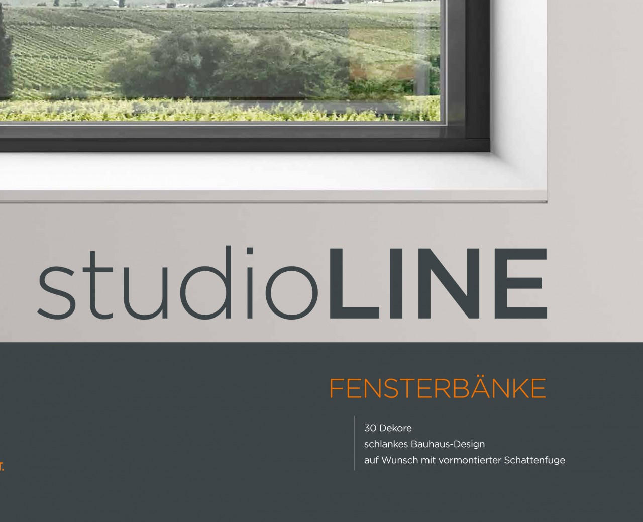 Fensterbank / Fensterbänke Alu | Werzalit | Innen Außen | Attika ...